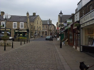 Picture of Barnoldswick shopping precinct.