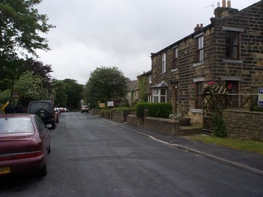 Picture of the main street in Higham.