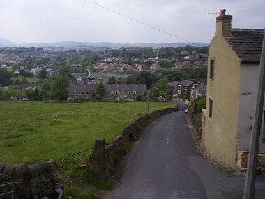 Picture of Winewall, looking down Winewall Lane from Hill Top.