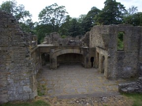 Part of the ruins of Wycoller Hall